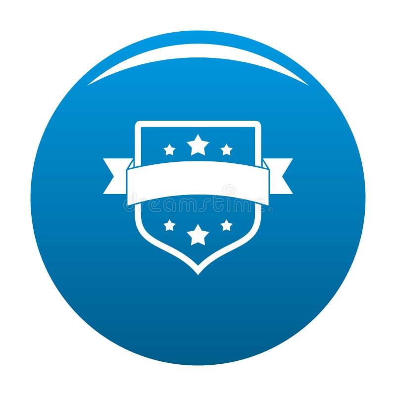 Vector del azul del icono del vintage de la insignia libre illustration