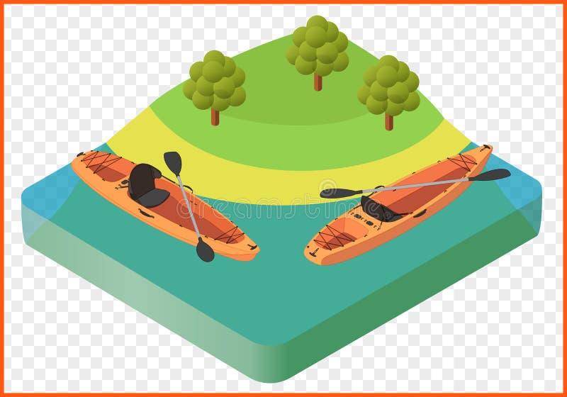 Vector del barco del kajak libre illustration