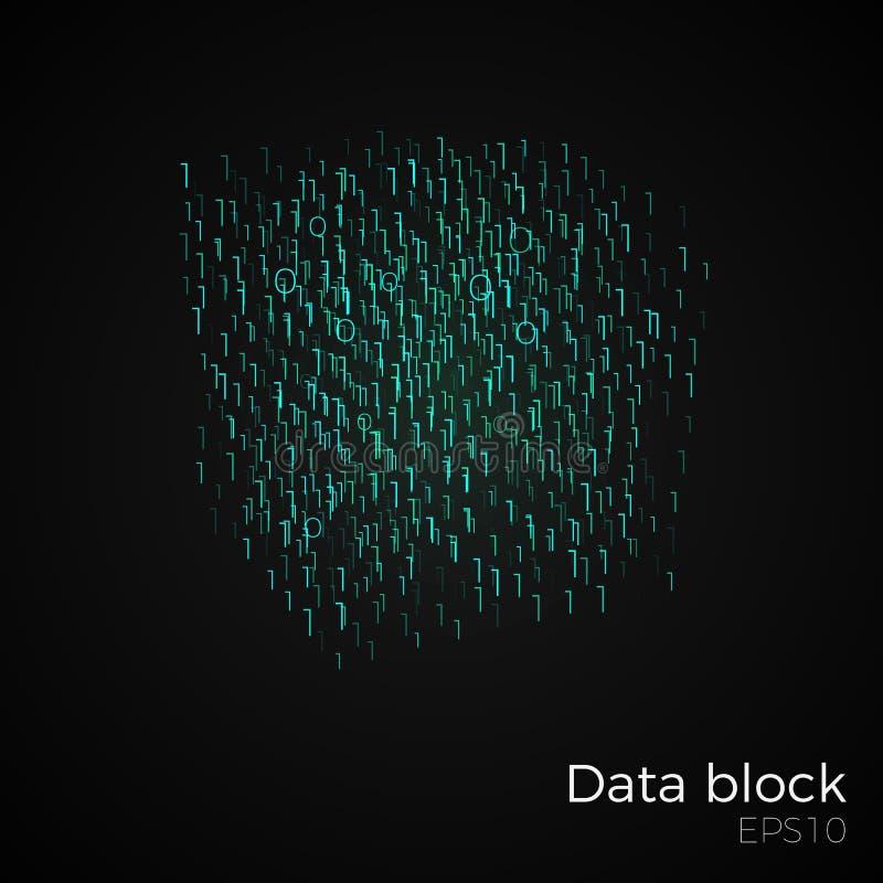 Vector del bloque de datos ilustración del vector