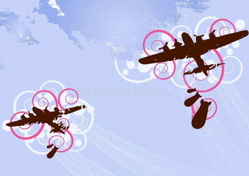Vector del bombardero stock de ilustración