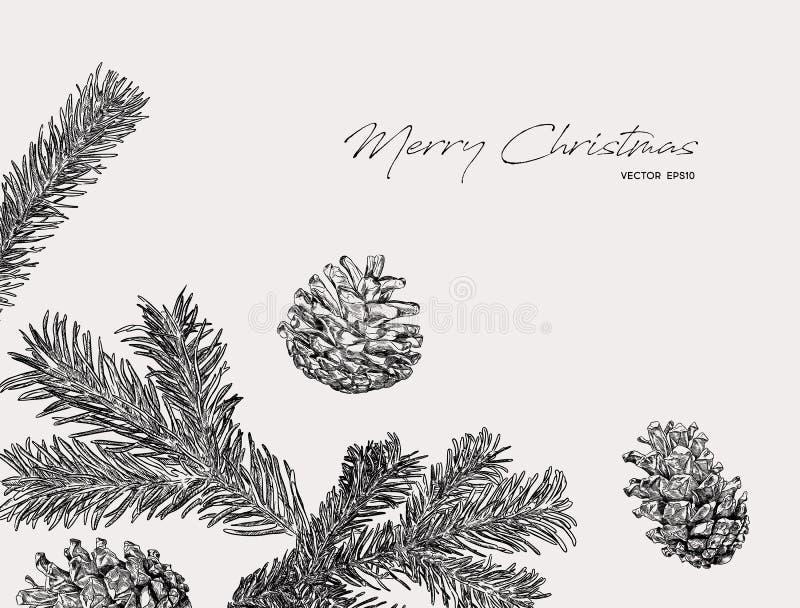 Vector del bosquejo del drenaje de la mano del concepto de la Navidad libre illustration