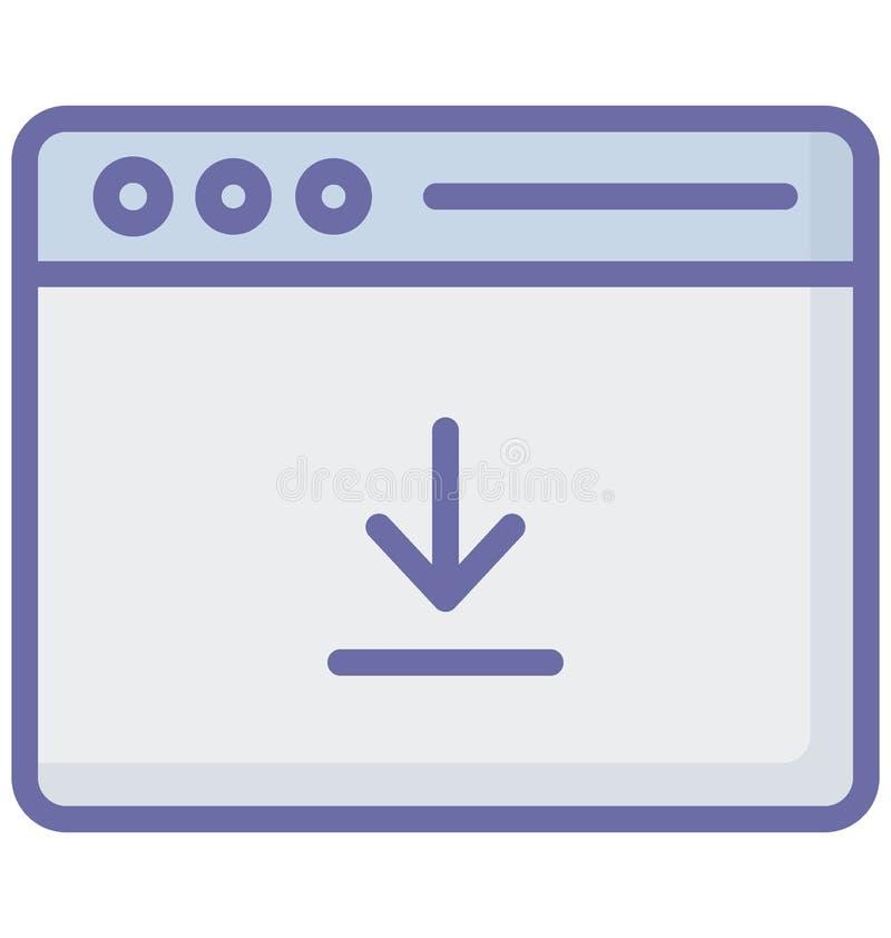 Vector del botón de la transferencia directa relacionado con las ventanas del explorador Web y completamente editable libre illustration