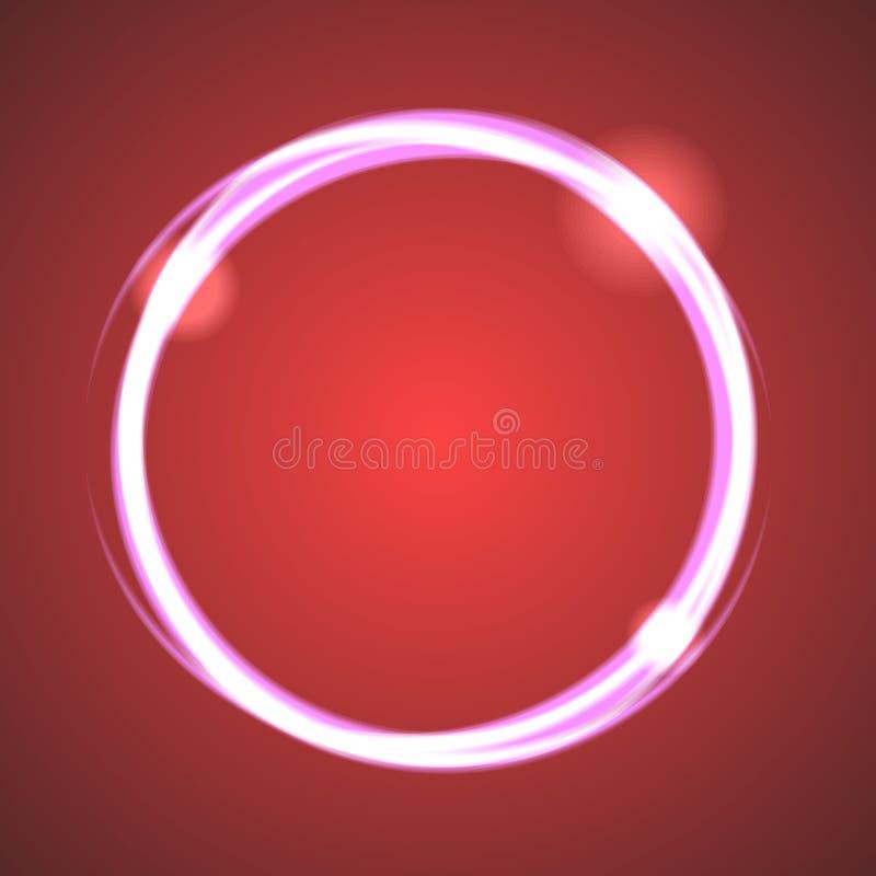 Vector del círculo del eclipse del efecto del resplandor stock de ilustración