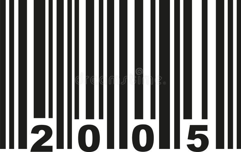 Vector del código de barras 2005 stock de ilustración