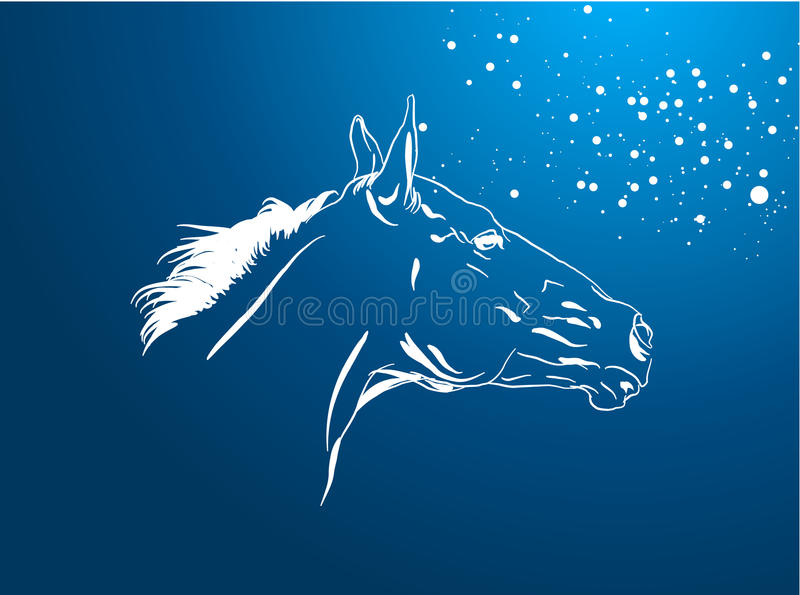 Vector del caballo stock de ilustración