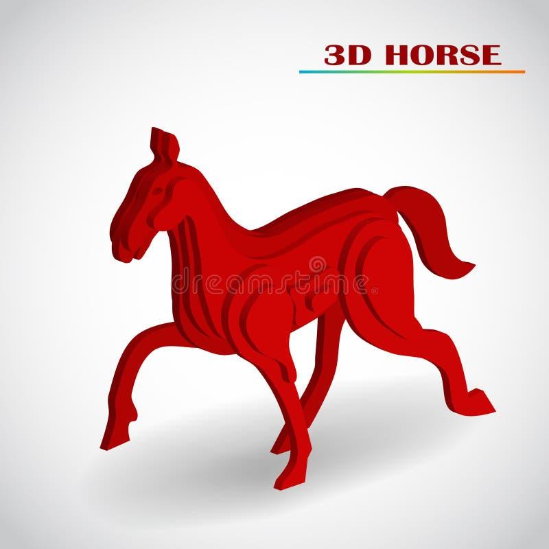 Vector del caballo 3d ilustración del vector
