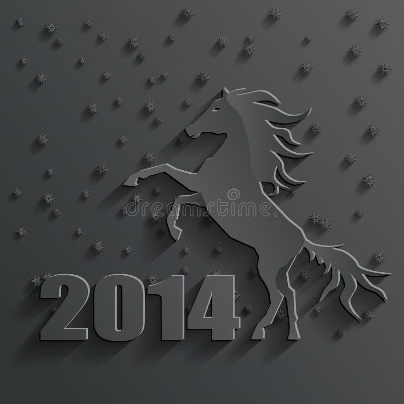 Vector del caballo del Año Nuevo libre illustration