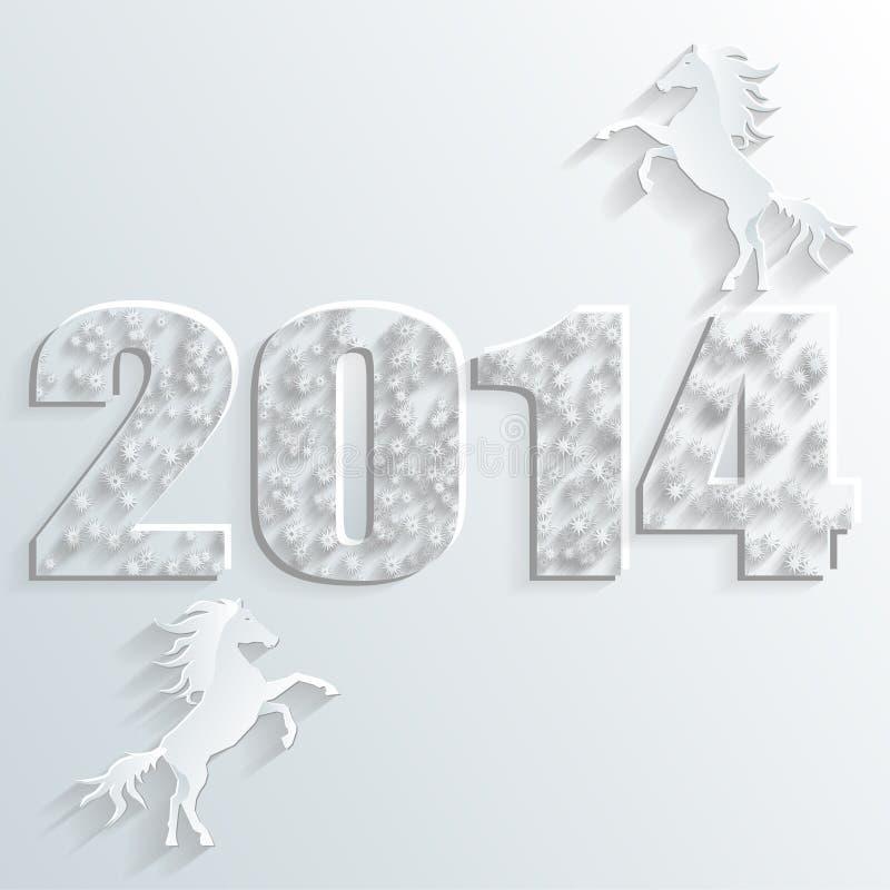Vector del caballo del Año Nuevo stock de ilustración