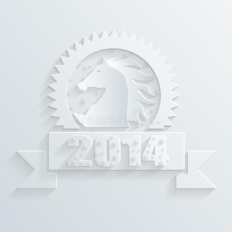 Vector del caballo del Año Nuevo ilustración del vector