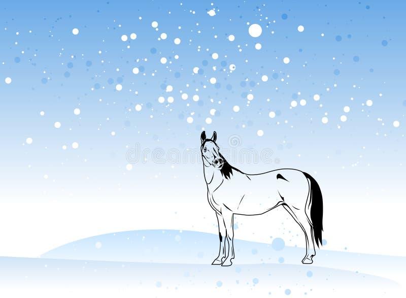 Vector del caballo en la Navidad ilustración del vector