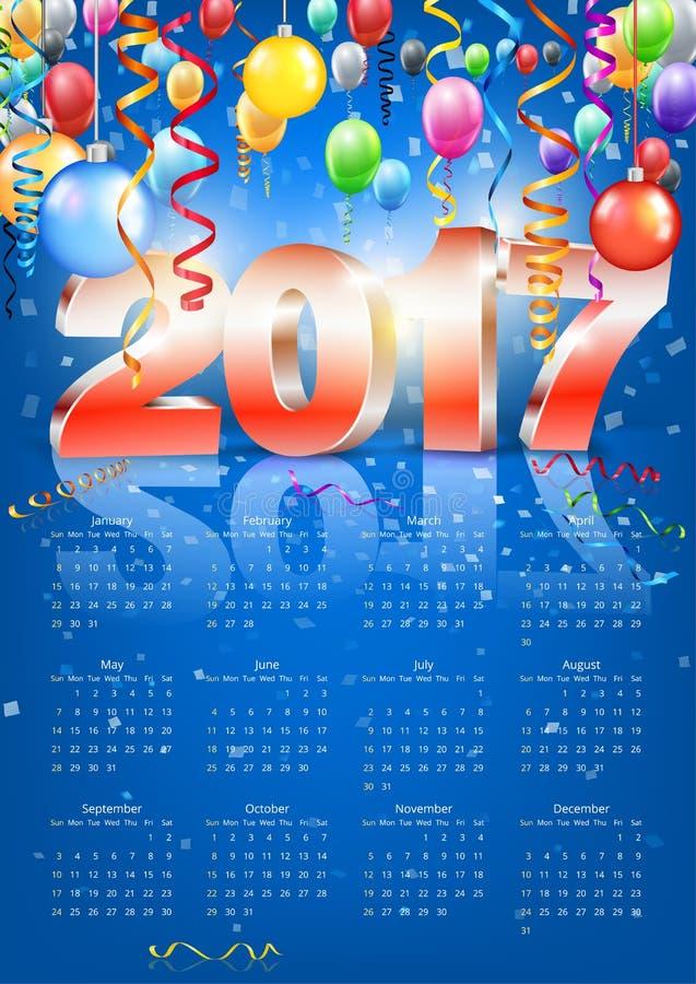 Vector del calendario 2017 libre illustration