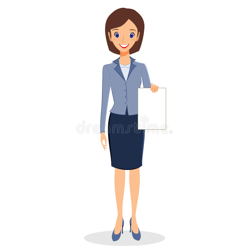 Vector del carácter de la mujer de negocios libre illustration