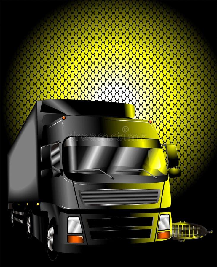 Vector del carro de la noche stock de ilustración