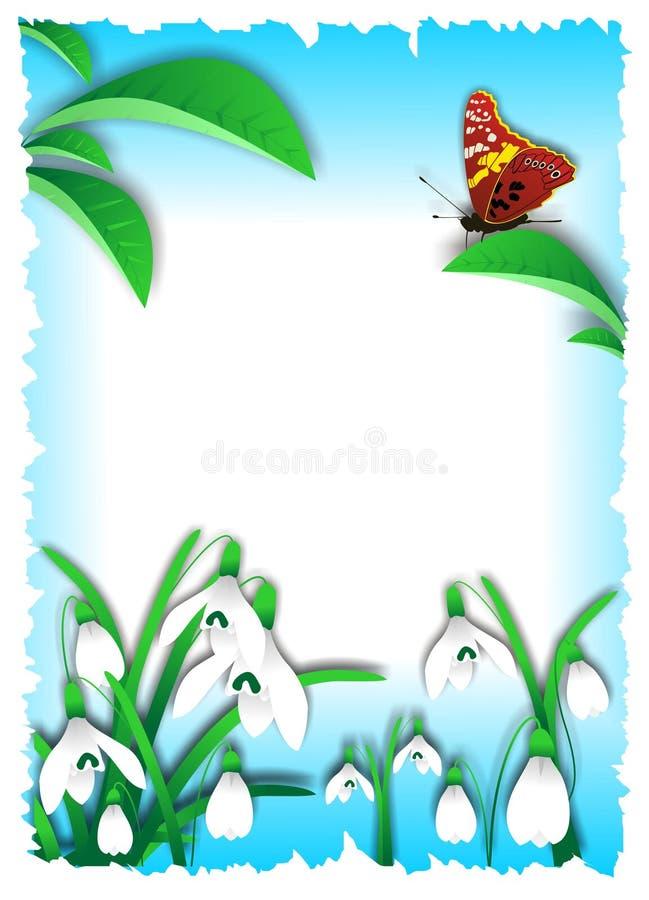 Vector del cartel del resorte stock de ilustración