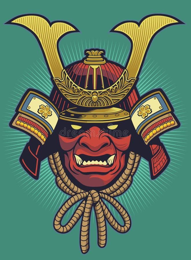 Vector del casco del samurai libre illustration
