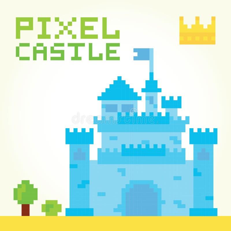 Vector del castillo del muchacho del arte del pixel ilustración del vector