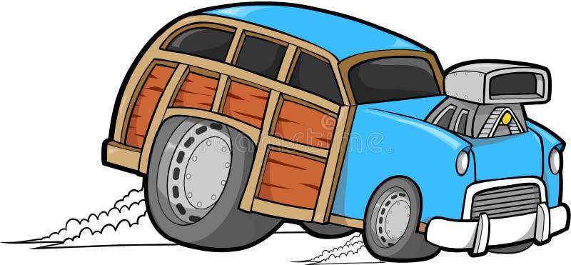 Vector del coche de Woodie ilustración del vector