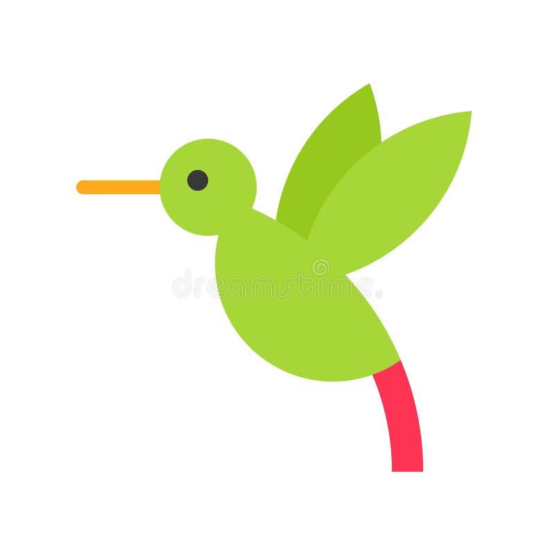 Vector del colibrí, icono plano relacionado tropical del estilo libre illustration