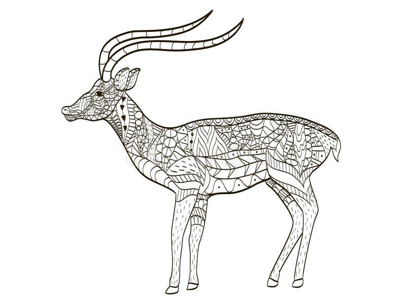 Vector del colorante del antílope para los adultos libre illustration