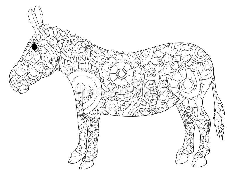 Vector del colorante del burro para los adultos libre illustration