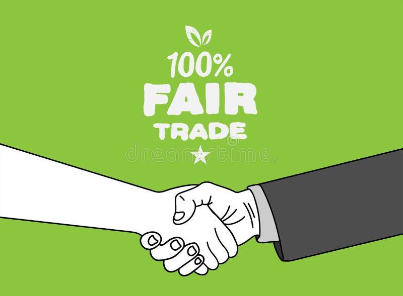 Vector del comercio justo libre illustration