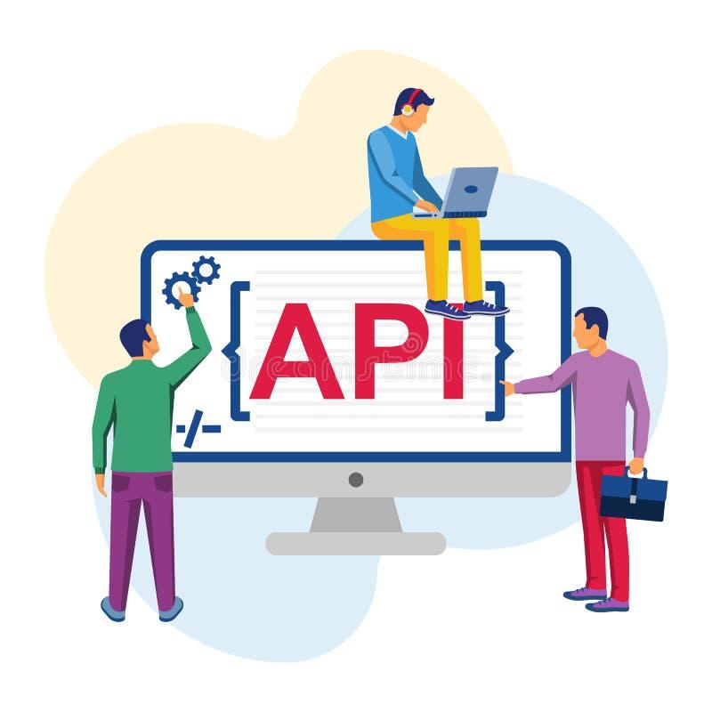 Vector del concepto del API libre illustration