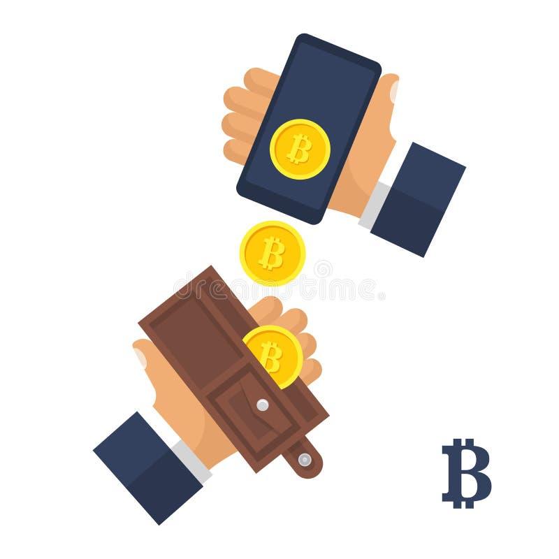 Vector del concepto de Bitcoin stock de ilustración