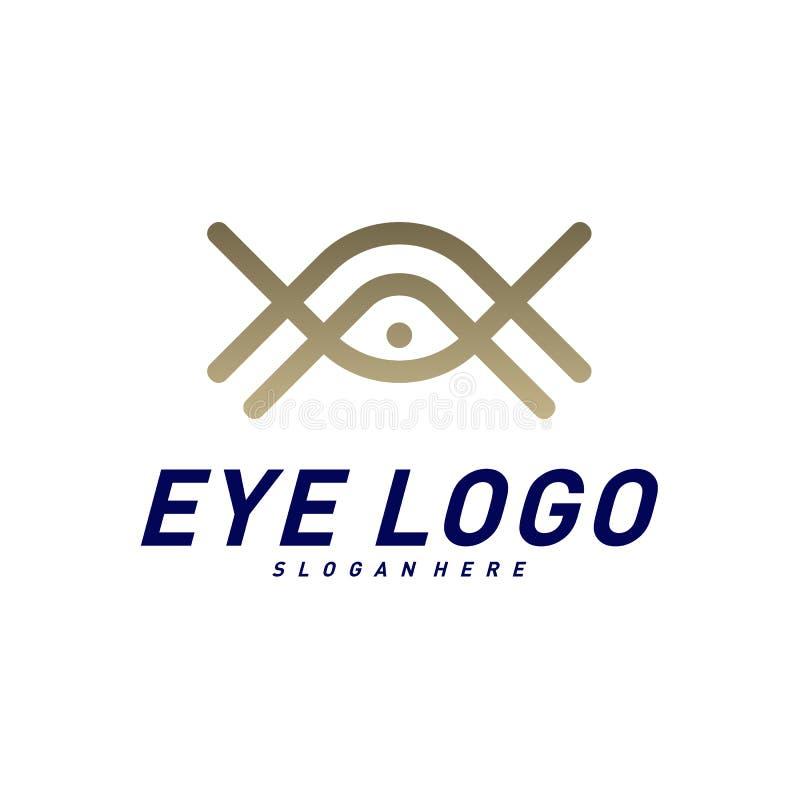 Vector del concepto de diseño del logotipo del ojo, plantilla del logotipo del ojo, símbolo del icono ilustración del vector