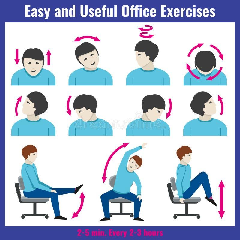 Vector del concepto de la atención sanitaria del síndrome de la oficina infographic libre illustration