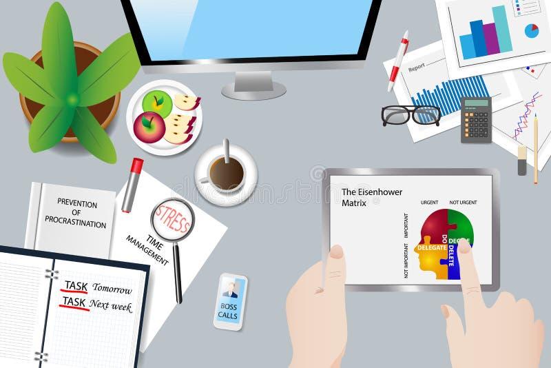 Vector del concepto de la gestión de tiempo libre illustration