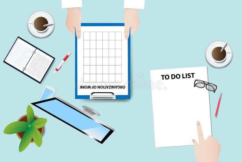 Vector del concepto de la reunión de funcionamiento stock de ilustración