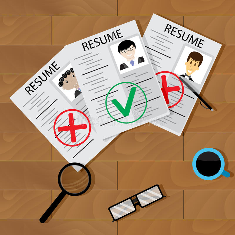 Vector del concepto del reclutamiento ilustración del vector