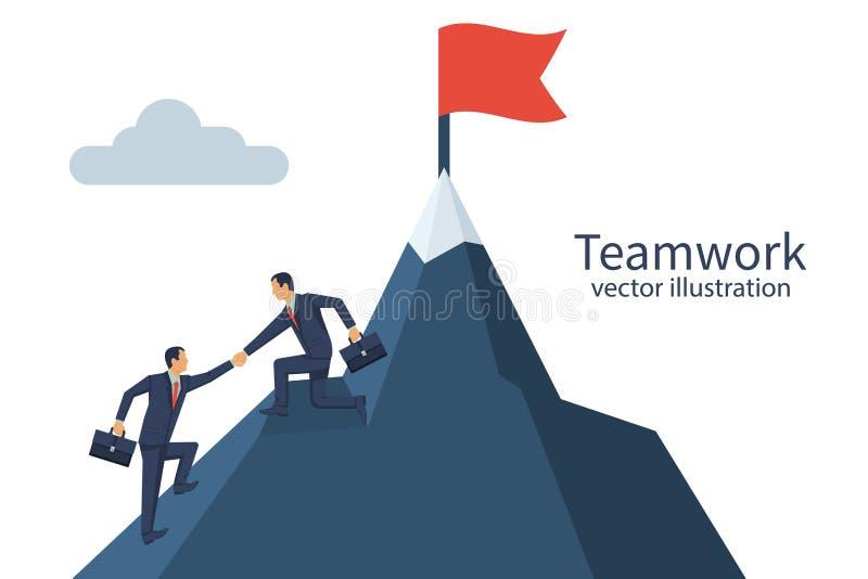Vector del concepto del trabajo en equipo stock de ilustración