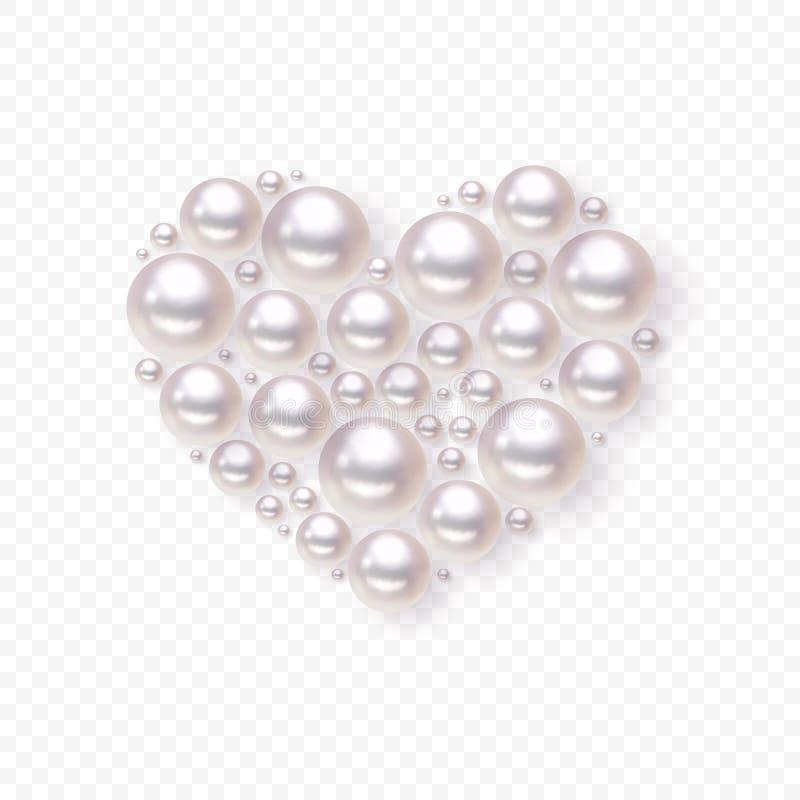 Vector del corazón de la perla stock de ilustración