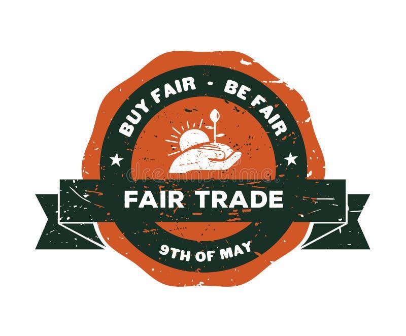Vector del día del comercio justo stock de ilustración