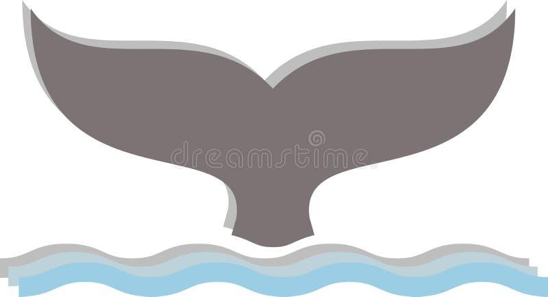 Vector del delfín en un fondo blanco libre illustration