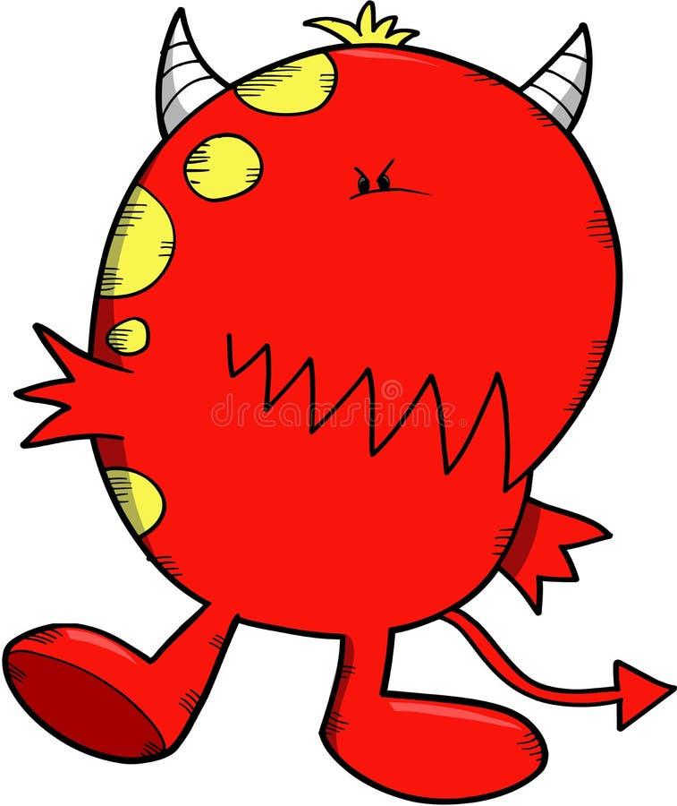 Vector del diablo del monstruo ilustración del vector