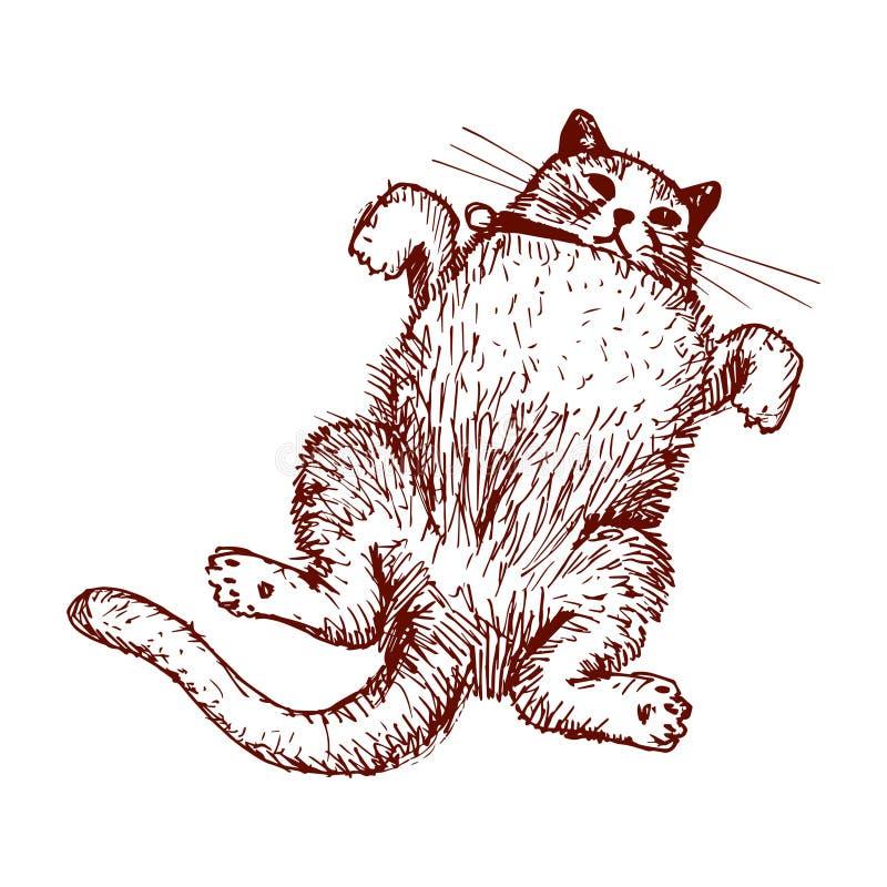 Vector del dibujo del gato feliz fotografía de archivo