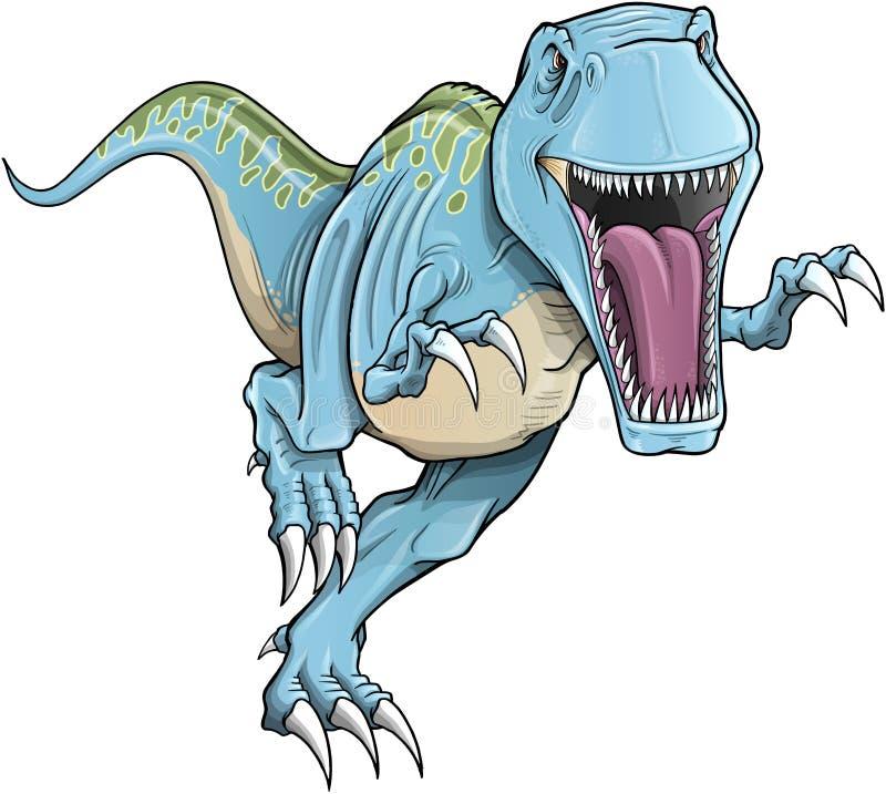 Vector del dinosaurio de Rex del Tyrannosaurus stock de ilustración