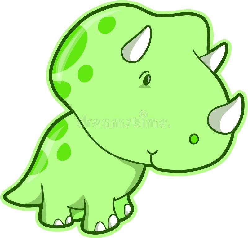Vector del dinosaurio del Triceratops ilustración del vector