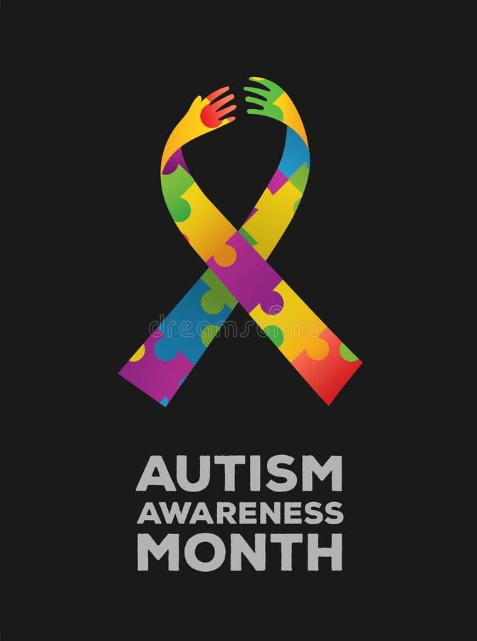 Vector del diseño de la conciencia del autismo stock de ilustración