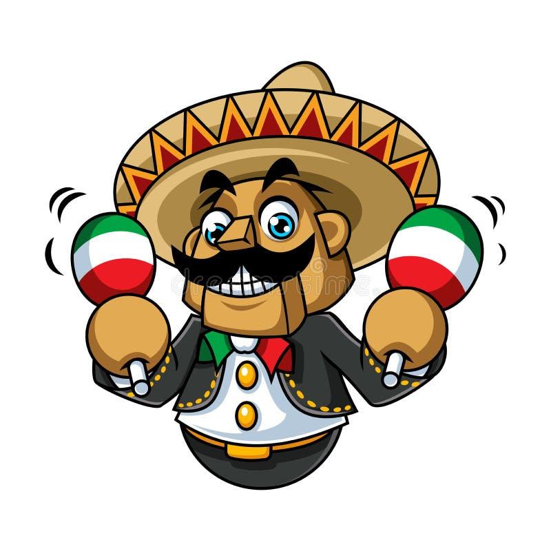 Vector del diseño de la mascota de México Danza fotos de archivo libres de regalías