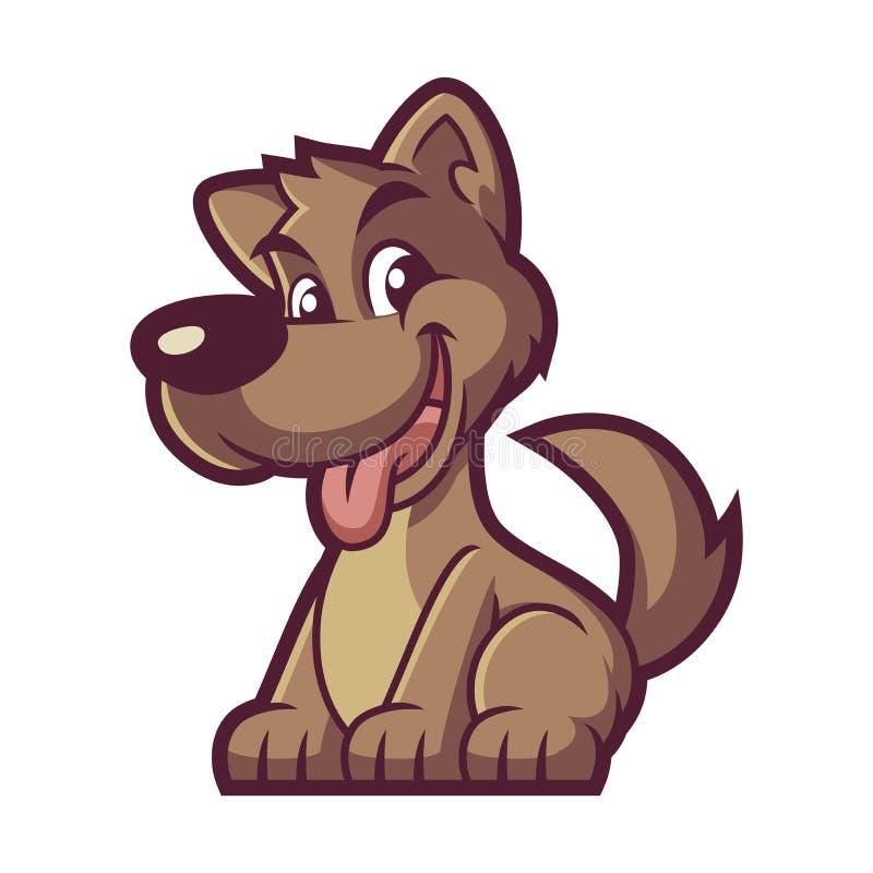 Vector del diseño de la mascota del perro de Brown imágenes de archivo libres de regalías