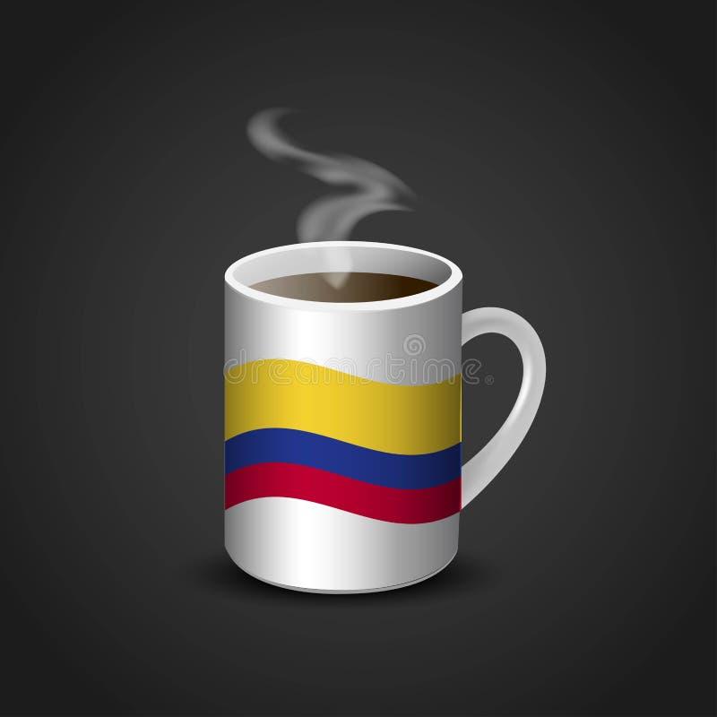 Vector del diseño de la taza de las banderas ilustración del vector