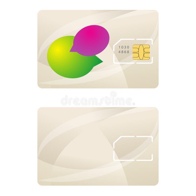 Vector del diseño de la telecomunicación de la plantilla de la tarjeta de Sim stock de ilustración