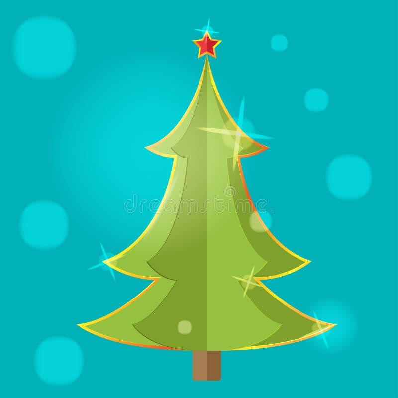 Vector del diseño del icono del símbolo del árbol de navidad stock de ilustración