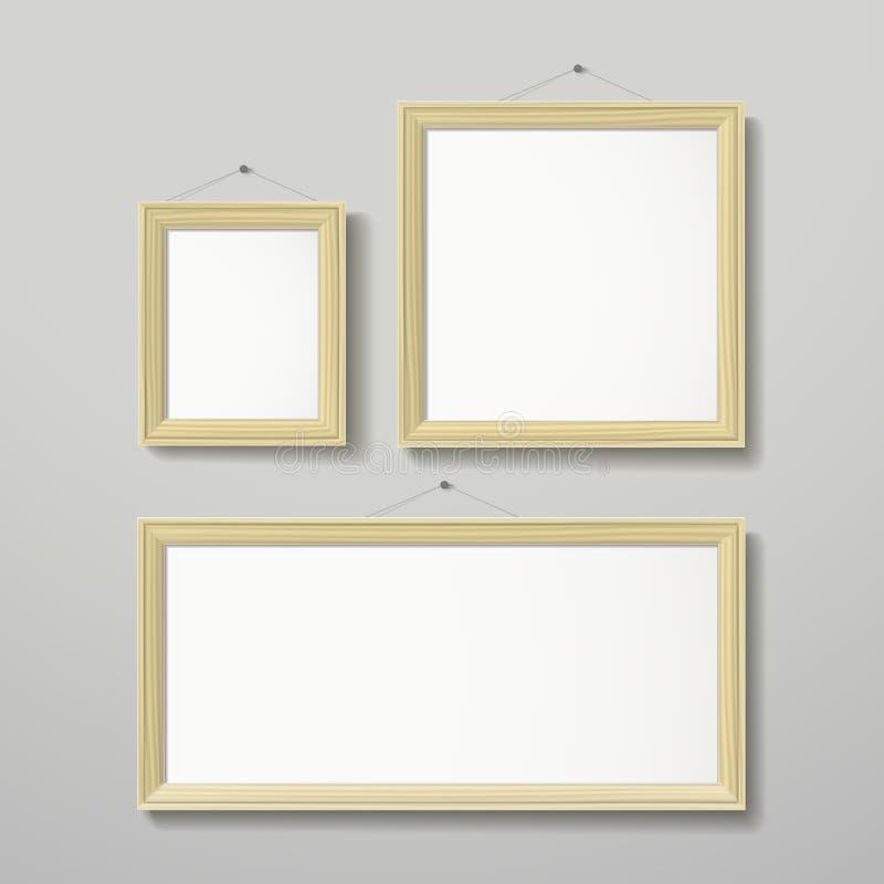 Vector Del Diseño Del Marco 3D Para La Imagen O El Texto Ilustración ...