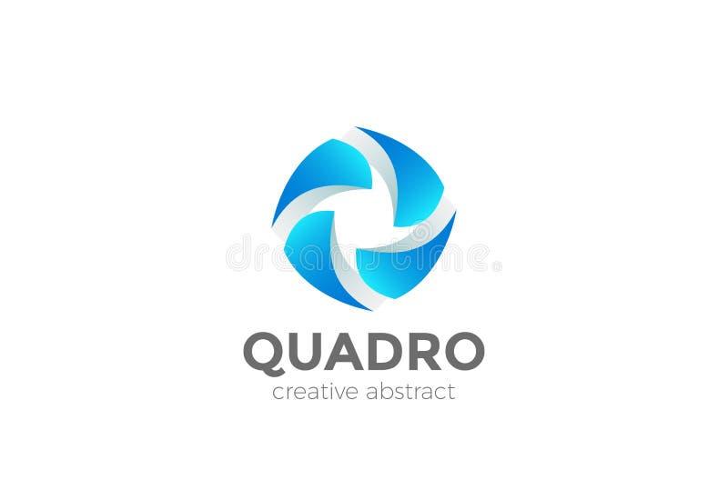 Vector del diseño del extracto del logotipo del trabajo en equipo Media sociales stock de ilustración