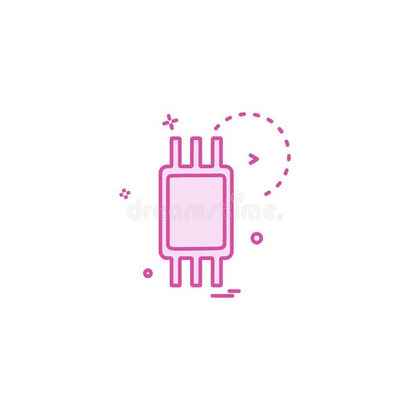 Vector del diseño del icono de IC ilustración del vector