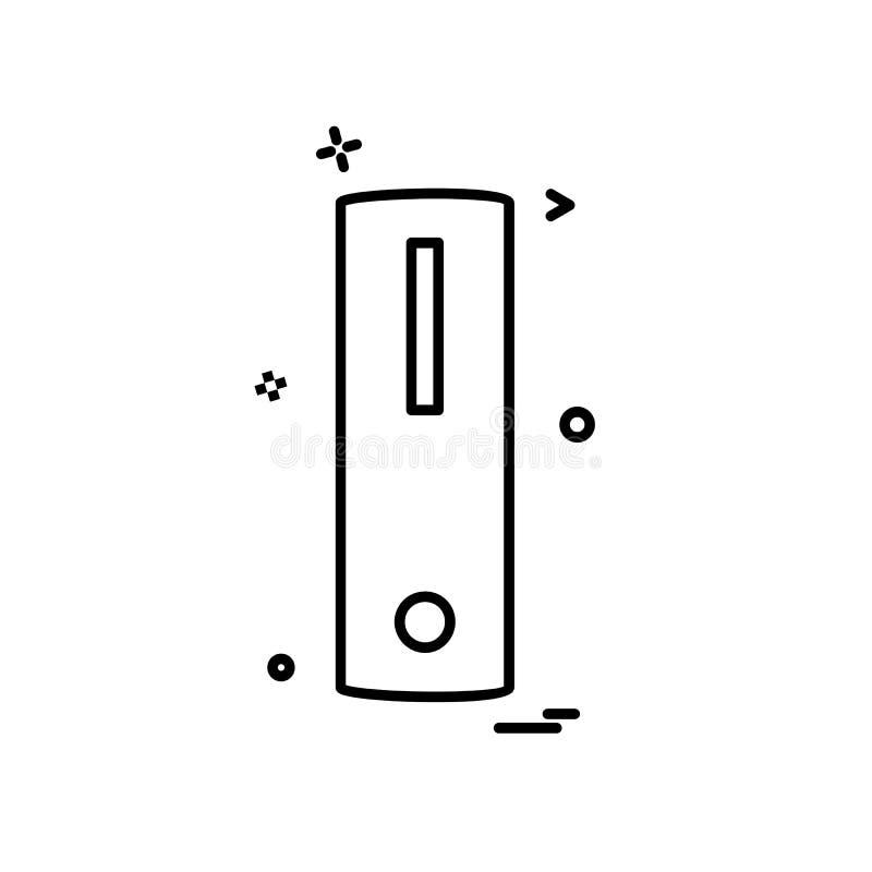 Vector del diseño del icono de la CPU ilustración del vector